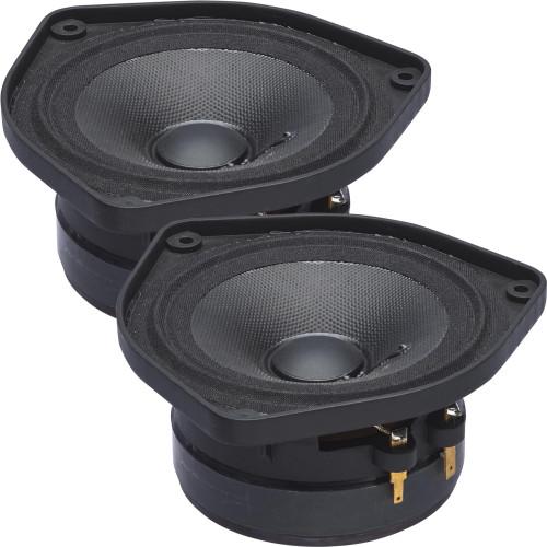 "PowerBass OE-400 - 4"" Mid Range Speakers 40Wrms / 120Wmax (2-Ohm) - Pair"