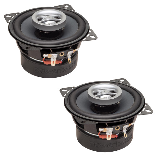 """PowerBass OE-402 - 4"""" Coaxial Speakers 40Wrms / 120Wmax (2-Ohm) - Pair"""