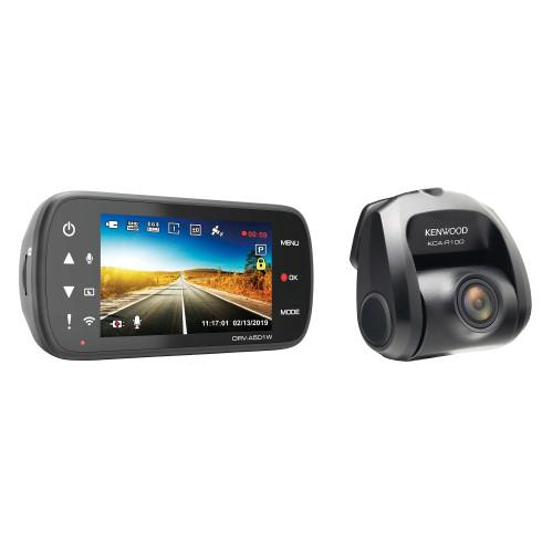 Kenwood DRV-A501WDP Detachable Dash Cam with Wi-Fi & Rear Cam