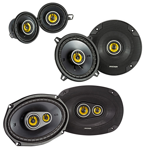 "Kicker for Dodge Ram Truck 2002-2011 Speaker bundle - CS 6x9"" 3-way speakers, CS 5.25"" speakers, And CS 3.5"" speakers"