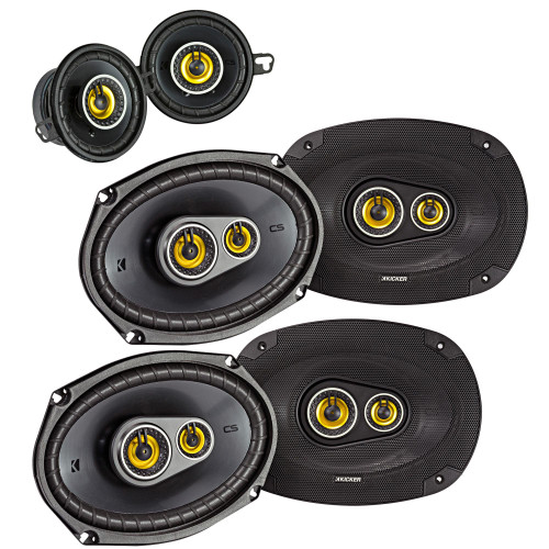 "Kicker for Dodge Ram Crew Cab 2012 & up speaker bundle- 2-pairs of CS 6x9"" speakers, & a pair of CS 3.5"" speakers"