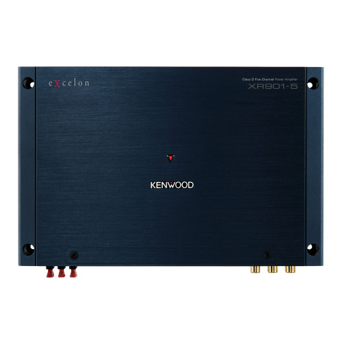 Kenwood XR901-5 Reference Fit 5 Channel Power Amplifier with 75Wx4 output and 600W x 1 at 2 ohms and  1800W maximum power, Bass Knob Included, Speaker level Inputs and Signal Sensing Turn On