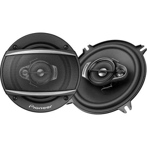 """Pioneer TS-A1370F - 5-1/4"""" - 3-way, 300 W Max Power, Carbon/Mica-reinforced IMPP cone, 11mm Tweeter and 1-5/8"""" Cone Midrange - Coaxial Speakers (pair)"""