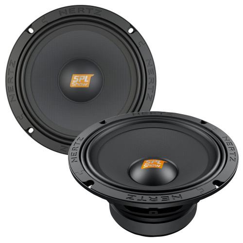 Hertz SPL Show Series SV-2001 8 in. (200mm) SPL 4-Ohm Midrange Speakers (Pair)