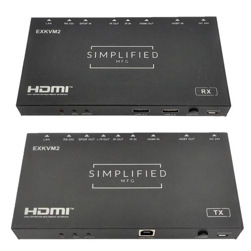 Simplified MFG EXKVM2 HDMI 2.0b (18Gbps) Extender over Cat5e/Cat6