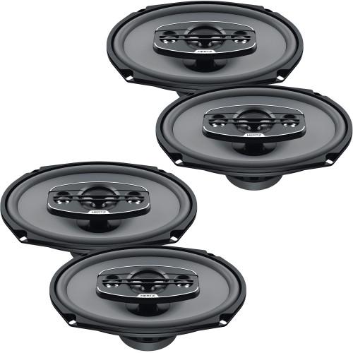 "Hertz Audio 2 Pairs of X-690 UNO Series 6x9"" 4-Way Coaxial Speakers"