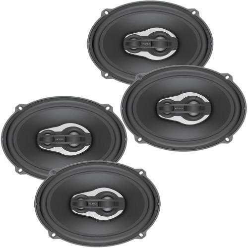 "Hertz Audio 2 Pairs of MPX690.3 Millie Pro Series 6X9"" 3-Way Coaxial Speakers"