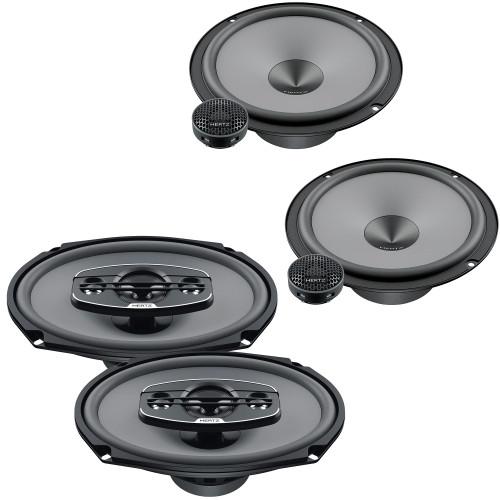 "Hertz One Pair of K-165 UNO Series 6.5"" 2-Way Component Speakers and One Pair X-690 UNO Series 6x9"" 4-Way Coax Speakers"
