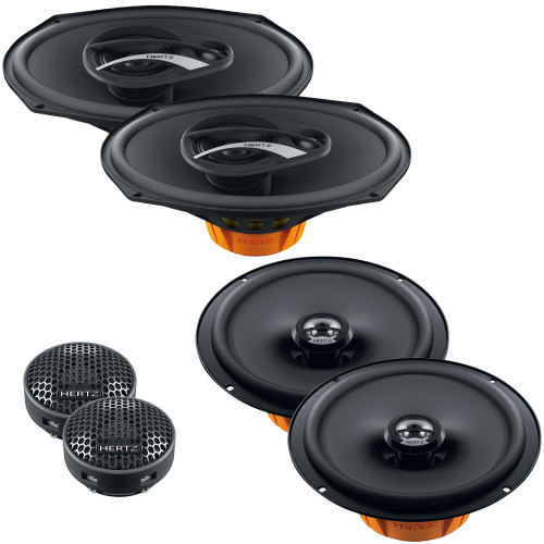 """Hertz Dieci 6x9"""" & 6.5"""" Speaker & Tweeter Replacements Compatible with 2015-2020 Ford F-150 Extended Cab"""