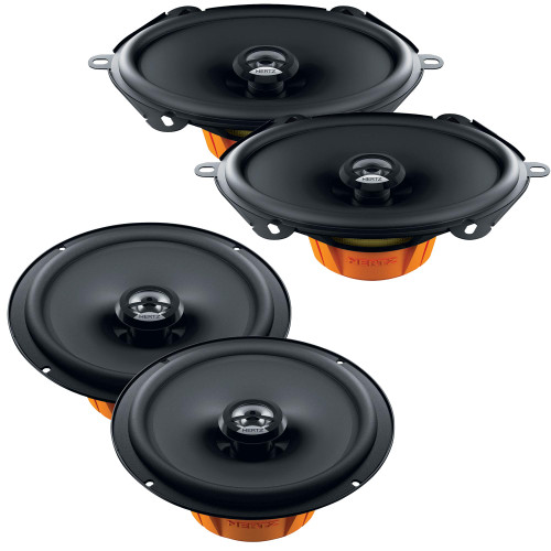 """Hertz One Pair of Dieci 5x7""""/6x8"""" and One Pair of 6.5"""" Coax Speaker Replacements Compatible with 1992-1996 Ford F-150 Extended Cab"""
