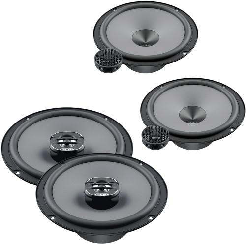"Hertz One Pair of K-165 UNO Series 6.5"" 2-Way Component Speakers and One Pair X 165 UNO Series 6.5"" Coaxial Speakers"