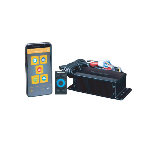 Memphis Audio SMC2A Headless Media Center Receiver For Smartphone Control With Am/FM Bluetooth AUX and Weather Band