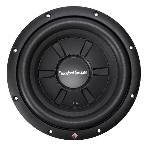 "Rockford Fosgate R2SD4-10 10"" Slim Subwoofer- DVC (dual 4-Ohm), 200 Watts Rms, 400 Watts Peak - Open Box"