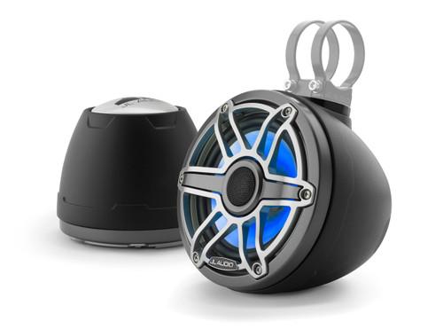 "JL Audio M6-VeX 6.5"" Enclosed Speaker System for Marine & Powersports, Matte Black & Gunmetal-  M6-650VEX-Mb-S-GmTi-i - Open Box"