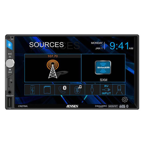 """Jensen CR271ML 7"""" Media Receiver With Bluetooth And SiriusXM-ready"""