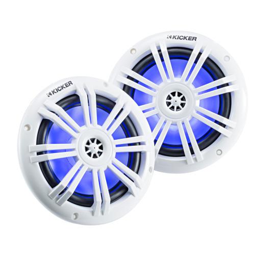 "Kicker 45KM604WL KM 6.5"" 4Ω Blue LED Coaxial - Pair"