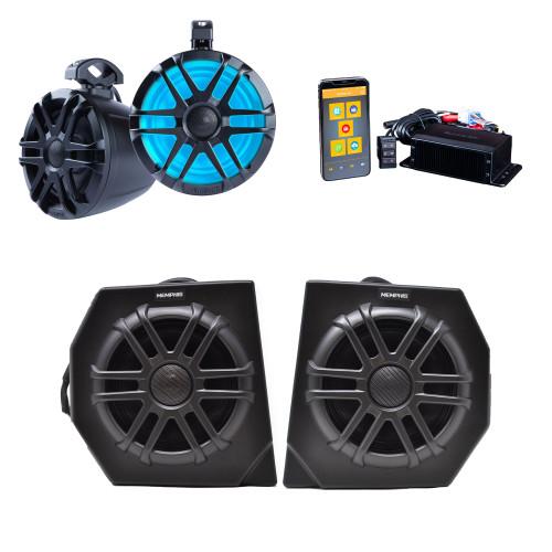 """Memphis DEFCORE4 Kit CANAMDEF65FE Direct Fit OEM 6.5"""" Speaker Pods + MXAMCAPP Head Unit and MXA62PS Rear Speaker Pods"""