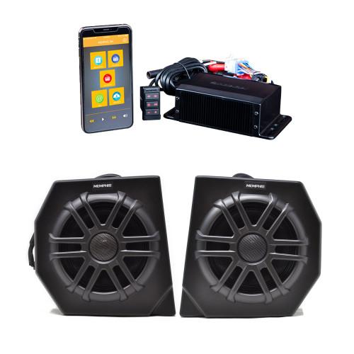 "Memphis DEFCORE2 Kit CANAMDEF65FE Direct Fit OEM 6.5"" Speaker Pods and MXAMCAPP Headless Media Center Receiver"