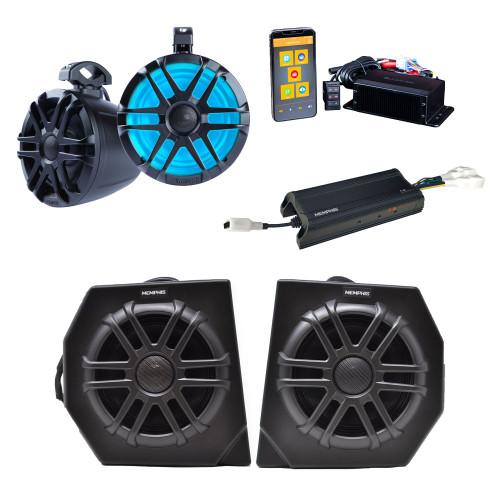 """Memphis DEFPRO4 Kit CANAMDEF65FE Direct Fit OEM 6.5"""" Speaker Pods + MXAMCAPP Head Unit, MXA62PS Rear Speakers, 4 Ch Amp"""