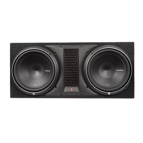 """Rockford Fosgate P2-2X12 Dual 12"""" Ported Loaded Enclosure, 800 Watts Rms, - 1-Ohm Final, H 15.1"""" X W 33.9"""" X D 16.4"""" - Used Good"""