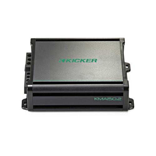 Kicker KMA150.2 2x60 Watt 2-Channel Weather-Resistant Marine Grade Full-Range Amplifier - Used Good