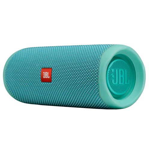 JBL FLIP5 Teal Waterproof portable speaker with Bluetooth, built-in battery, microphone - Used Very Good