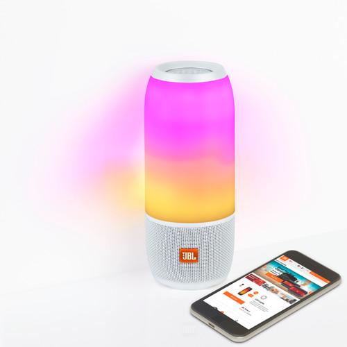 JBL Pulse 3 Portable Bluetooth Speaker – White - Like New