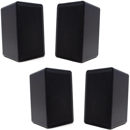 Legrand ON-Q MS05OD-V1 2-Way Indoor/Outdoor Speakers in Black with Included Mounting Brackets