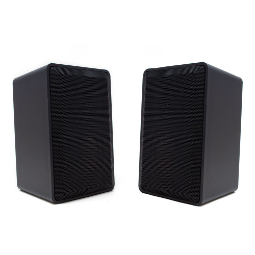 Legrand MS05OD-V1 Indoor-Outdoor Speakers (Pair) in Black with Included Mounting Brackets