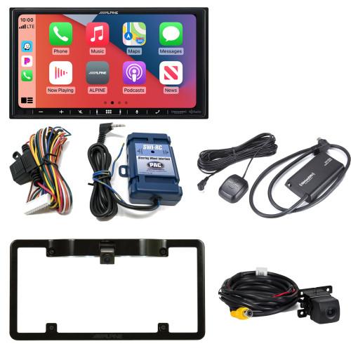 "Alpine ILX-407 7"" Multimedia Receiver w/ SWI-CP2 Steering Wheel Interface, SXV300v1 Satellite Radio Tuner w/ Back Up Cam"