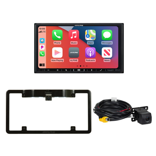 Alpine ILX-407 7-inch Multimedia Receiver with HCE--C114 Back Up Camera and KTX-C10LP Frame
