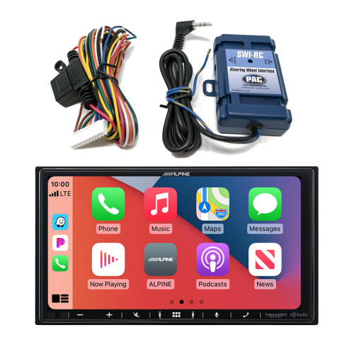 Alpine ILX-407 7-inch Shallow-Chassis Multimedia Receiver with SWI-RC Steering Wheel Interface