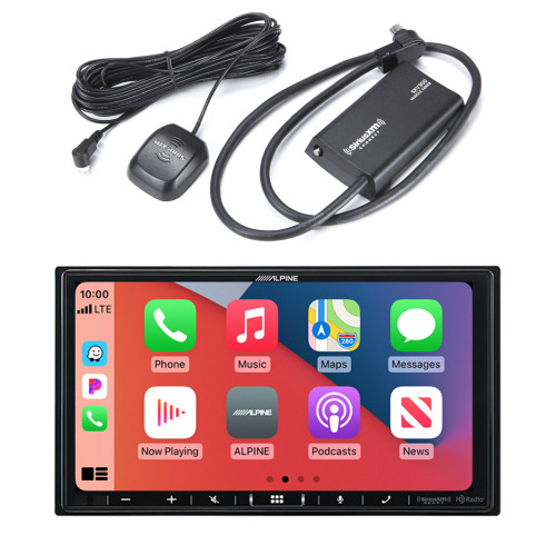Alpine ILX-407 7-inch Shallow-Chassis Multimedia Receiver with SXV300v1 Satellite Radio Tuner