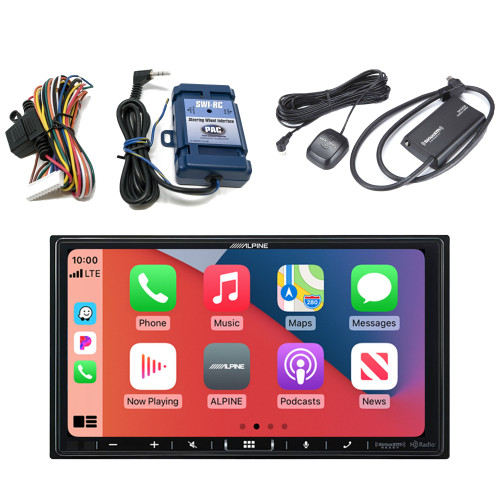 Alpine ILX-407 7-inch Multimedia Receiver with SWI-RC Steering Wheel Interface and SXV300v1 Satellite Radio Receiver
