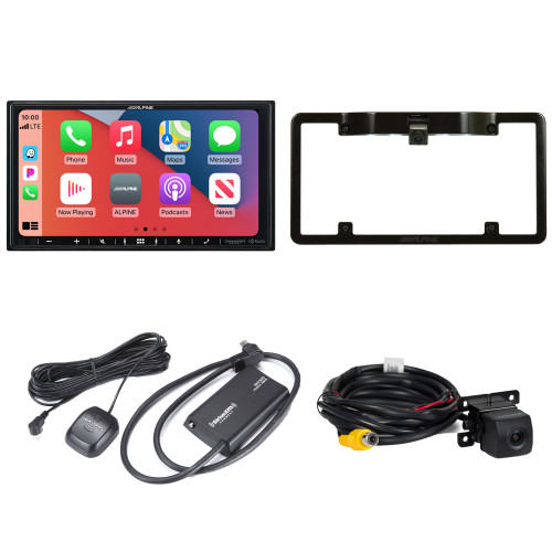 Alpine ILX-407 7-inch Multimedia Receiver with SXV300v1 Satellite Tuner, HCE--C114 Back Up Camera and KTX-C10LP Frame
