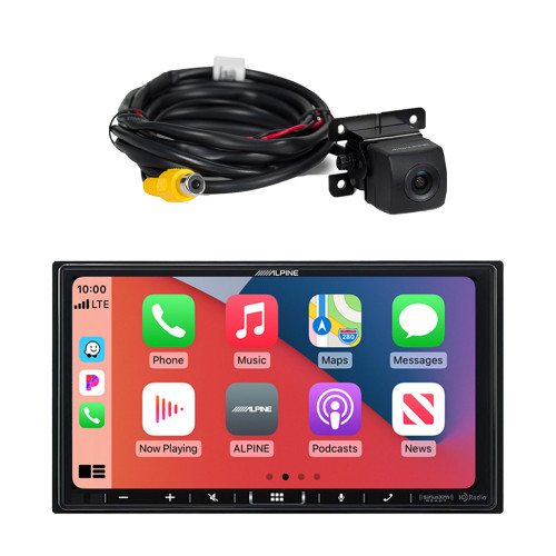 Alpine ILX-407 7-inch Multimedia Receiver with HCE--C114 Back Up Camera