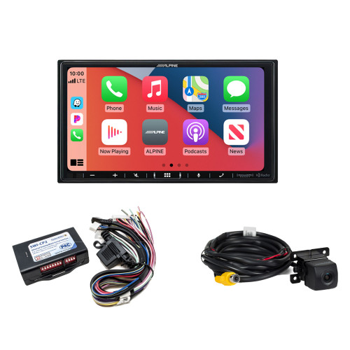Alpine ILX-407 7-inch Multimedia Receiver with SWI-CP2 Steering Wheel Interface, and HCE--C114 Back Up Camera