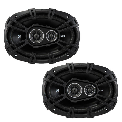 Kicker DSC6930 6x9-Inch (160x230mm) 3-Way Speakers, 4-Ohm (Pair)