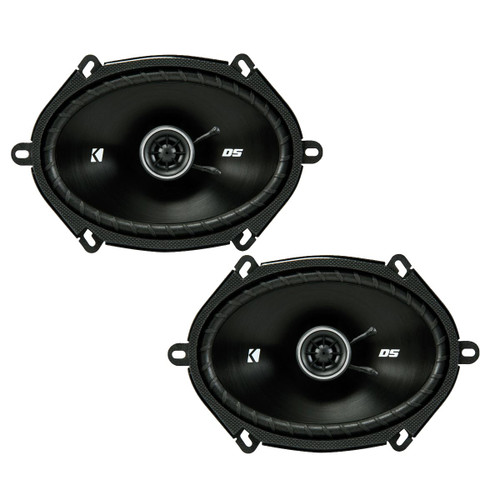 Kicker DSC680 6x8-Inch (160x200mm) Coaxial Speakers, 4-Ohm (Pair)