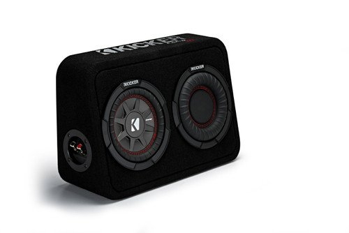 """Kicker TCWRT672 CompRT 6.75"""" Subwoofer in Thin Profile Enclosure 2ohm 150W"""