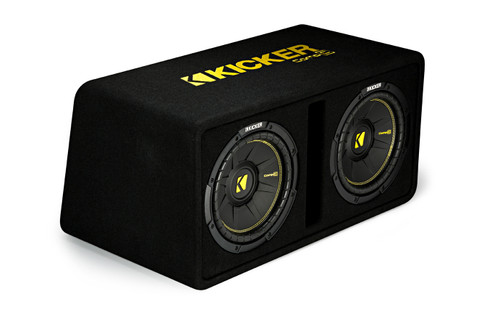 """Kicker 44DCWC102 Dual CompC 10"""" Subwoofers in Vented Enclosure, 2-Ohm"""
