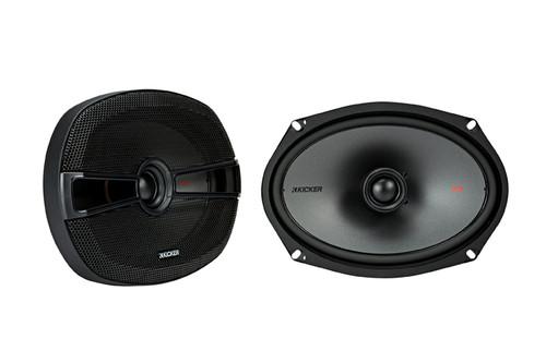 "Kicker KSC6904 KSC690 6x9"" Coax Speakers with 1"" tweeters 4-Ohm (Pair)"