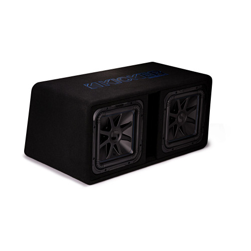 """Kicker DL7S122 Dual L7S 12"""" Subwoofers in Vented Enclosure 2-Ohm"""