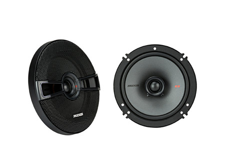 "Kicker KSC6504 KSC650 6.5"" Coax Speakers with .75"" tweeters 4-Ohm (Pair)"
