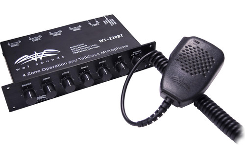 Wet Sounds WS-220 BT Bluetooth Enabled 4 Zone Control and built in Mic