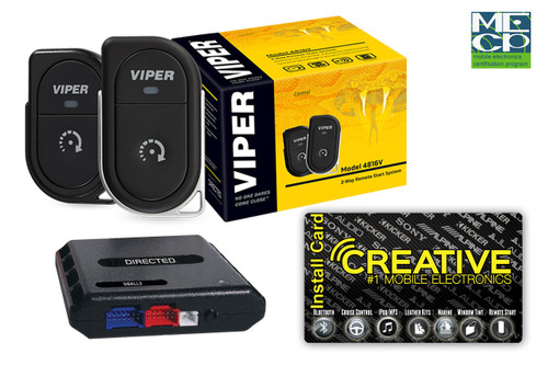 Viper 4816V 2-way 1 Button Remote Start System 1 mile Range - Price Includes Standard Installation