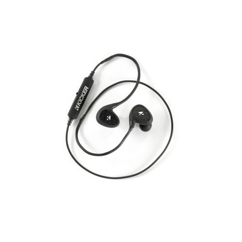 Kicker EB400 Waterproof Bluetooth® Earbuds Earbuds - 44EB400BTB
