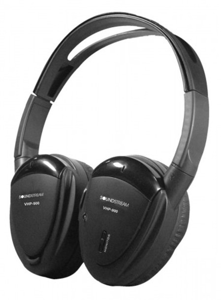 Soundstream VHP-900 2-Channel Wireless Headphones with Swivel Earpad and Carrying Case