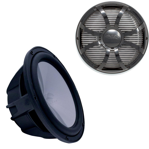 """Wet Sounds REVO10HPS4-B Revo High Power 10"""" Subwoofer with Grill - Black Subwoofer & Black Closed Face SW Grill"""