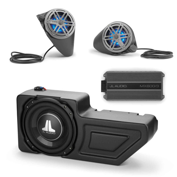 JL Audio Stealthbox® System for 2016+ Polaris General, SB-POL-GNRLSPKR/MX650, SB-POL-GNRL/10TW3 & MX600/3